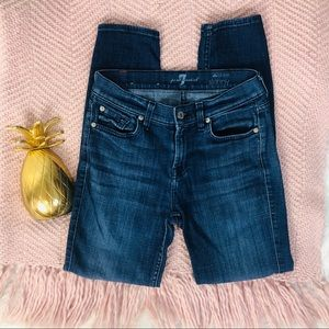 7 For All Mankind The Ankle Skinny Jean Size 26